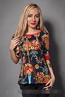 Блуза женская модель 226-1 , размеры 44, 46,48 черная