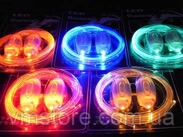 Шнурки светящиеся, со светодиодами