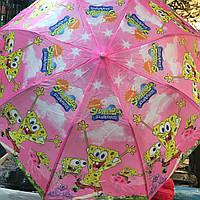 "Детский зонт ""Спанч Боб"" от компании Star Rain полуавтомат, 2 сложения, 8 спиц"