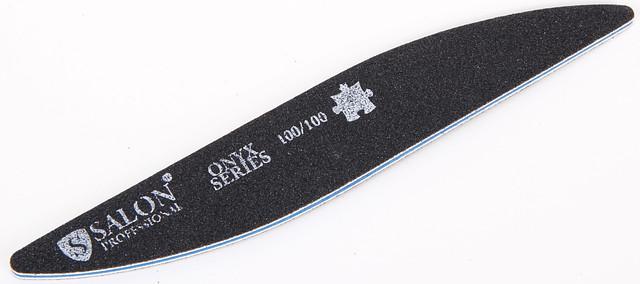 Черная пилочка форма капля 100/100 ONYX Series SALON CVL100/100 /0-5