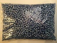 Полубусы , цвет т-серые  № 6, 5000шт. в упаковке