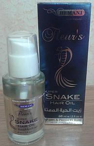 Масло для волос с жиром змеи Hemani 60 мл