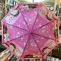 """Детский зонт трость """"Кошки 3"""" от компании Star Rain полуавтомат, 8 спиц"""