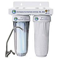 Система двухступенчатой очистки воды ТМ «BIO+ SYSTEMS» SL 302 (установка под мойку)