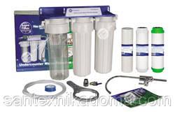 Фильтр проточный трехступенчатый Aquafilter FP3-K1 (Польша)