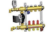 """Коллектор для теплого пола в сборе Herz COMPACTFLOOR Light 1""""x3/4x6 без насоса"""