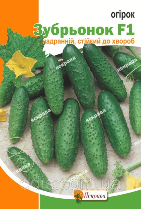 Огурец Зубренок F1 5 г, семена Яскрава