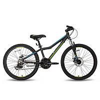 Велосипед 24'' PRIDE PILOT 21 черно-зелёный матовый 2016