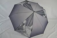 """Зонтик с кошкой, полуавтомат от фирмы """"AMICO"""", c качественным каркасом на 9 карбоновых спиц."""