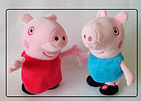 Свинка пеппа и джордж  Peppa Pig (на батарейках) танцует и поет , повторяет песенку