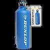 Бутылка для воды алюминивая с карабином, синего цвета, 750 мл