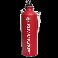 Бутылка для воды алюминивая с карабином, красного цвета, 750 мл