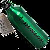 Бутылка для воды алюминивая с карабином зеленого цвета, 750 мл
