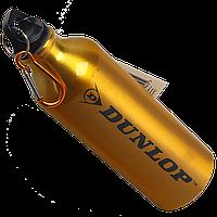Бутылка для воды алюминивая с карабином, золотого цвета 500 мл