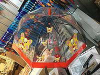 """Детский зонт трость Star Rain """"Веселая бабочка"""" полуавтомат, 8 спиц, фото 1"""