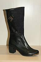 Сапоги черные женские из кожи 36,37,39 р. Paolo