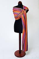 Baby Sling - Bamboo + Cotton - Broken Twill Weave - Sunset Rainbow