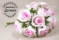 Розы из латекса бело розовая
