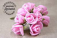 Розы из латекса розовые