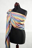 Ringsling, Broken Twill Weave (bamboo + cotton) - Sunrise Rainbow