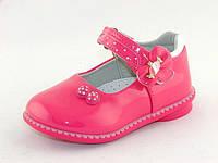 Детские туфельки Clibee для девочек, лак искусственный, стелька кожа ортопедическая, размеры 20