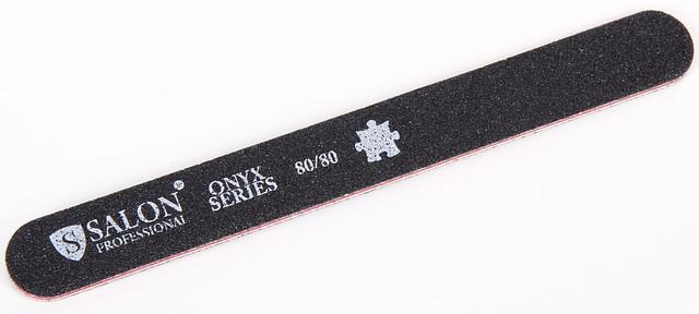 Черная пилочка форма прямая 80/80 ONYX Series SALON CVL 80/80 /0-4
