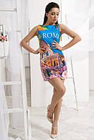 Платье с ярким принтом Roma АРТ! 314