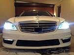 НАШИ РАБОТЫ: Тотальное оклеивание Mercedes W221 в белый глянец