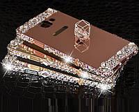 "SAMSUNG A710 A7 2016 металлический чехол бампер рамка со стразами ЗЕРКАЛЬНЫЙ для телефона ""CHROME GLARE D"""