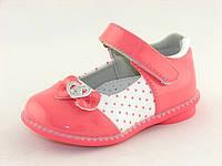 Детские туфельки Clibee для девочек, лак искусственный, стелька кожа ортопедическая, размеры 20-25