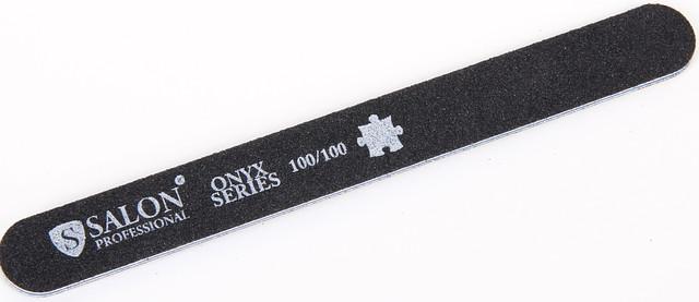 Черная пилочка форма прямая 100/100 ONYX Series SALON CVL 100/100 /0-4