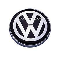 Колпачки заглушки для литых дисков с эмблемой Volkswagen 56/60мм. Серебристый