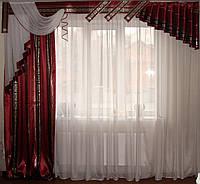 Жесткий ламбрекен Хай-тек бордо 3м, фото 1