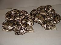 Подушка РОЗА шоколад и золото парча, фото 1
