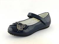Детские туфли для девочки, Шалунишка, лак искусственный,стелька кожа ортопедическая, размеры 25-29