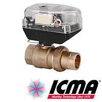 """Icma 341 двухходовой 1/2"""" шаровый зонный вентиль с сервомотром"""