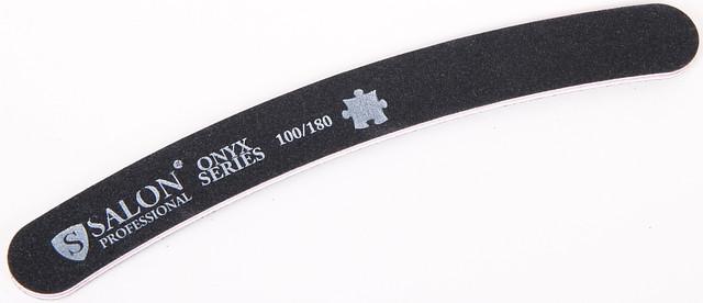 Черная пилочка форма изогнутая 100/180 ONYX Series SALON CVL 100/180 /0-4