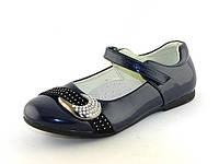 Туфли для девочки для школы, Шалунишка, лак искусственный, стелька кожа ортопедическая, размеры 33-36
