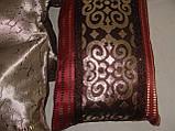 Комплект подушек  бордовые и беж, 5шт, фото 2