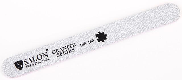 Серая пилочка форма прямая 100/180 Granit Series SALON CVL /0-4