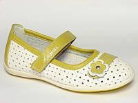 Туфли для девочек Шалунишка из искусственной перфорированной кожи, стелька кожа ортопедическая, размеры 26-31