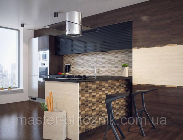 Плитка облицовочная для стен ванной и кухни Karelia Mozaik