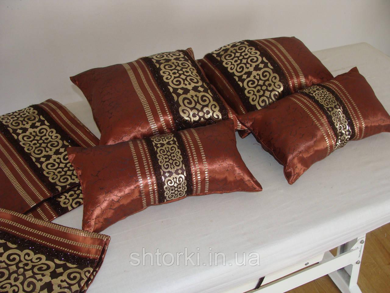 Комплект подушек коричневые   4шт
