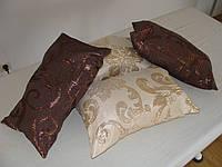 Комплект подушек  Вензель бронза и бежа, 4шт, фото 1