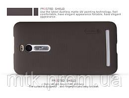 Чехол-бампер и плёнка NILLKIN для телефона Asus Zenfone 2 коричневый
