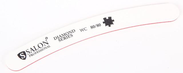 Белая пилочка форма изогнутая 80/80 Diamond Series SALON CVL /0-4