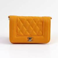 Клатч женский Chanel горизонталь желтая