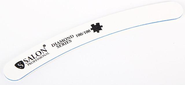Белая пилочка форма изогнутая 100/100 Diamond Series SALON CVL -100/100 /0-4