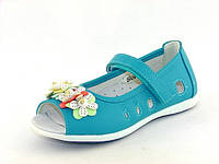 Летние туфли для девочек Шалунишка, искусственная  кожа, стелька кожа ортопедическая, размеры 26-31