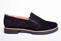 Туфли из натуральной черной замши №307-1/2, фото 1
